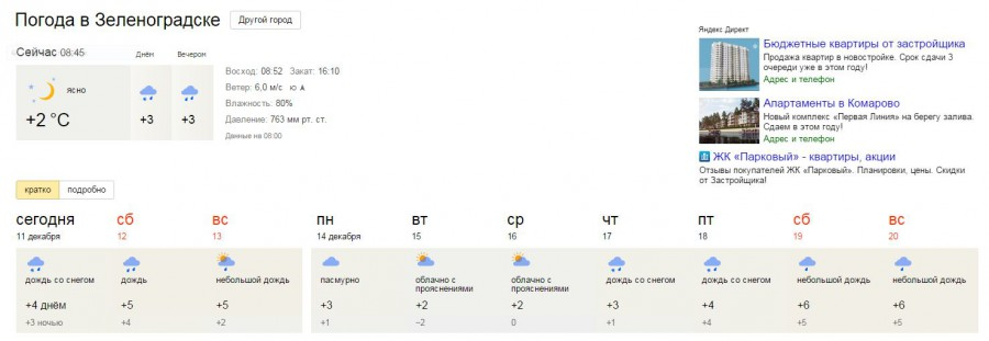 погода в балтийске на неделю на 14 лучшей
