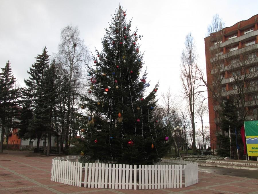 Новогодние ёлки в городах и домах-62024
